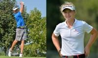 Golfisty roku Šimon Zach a Sára Kousková